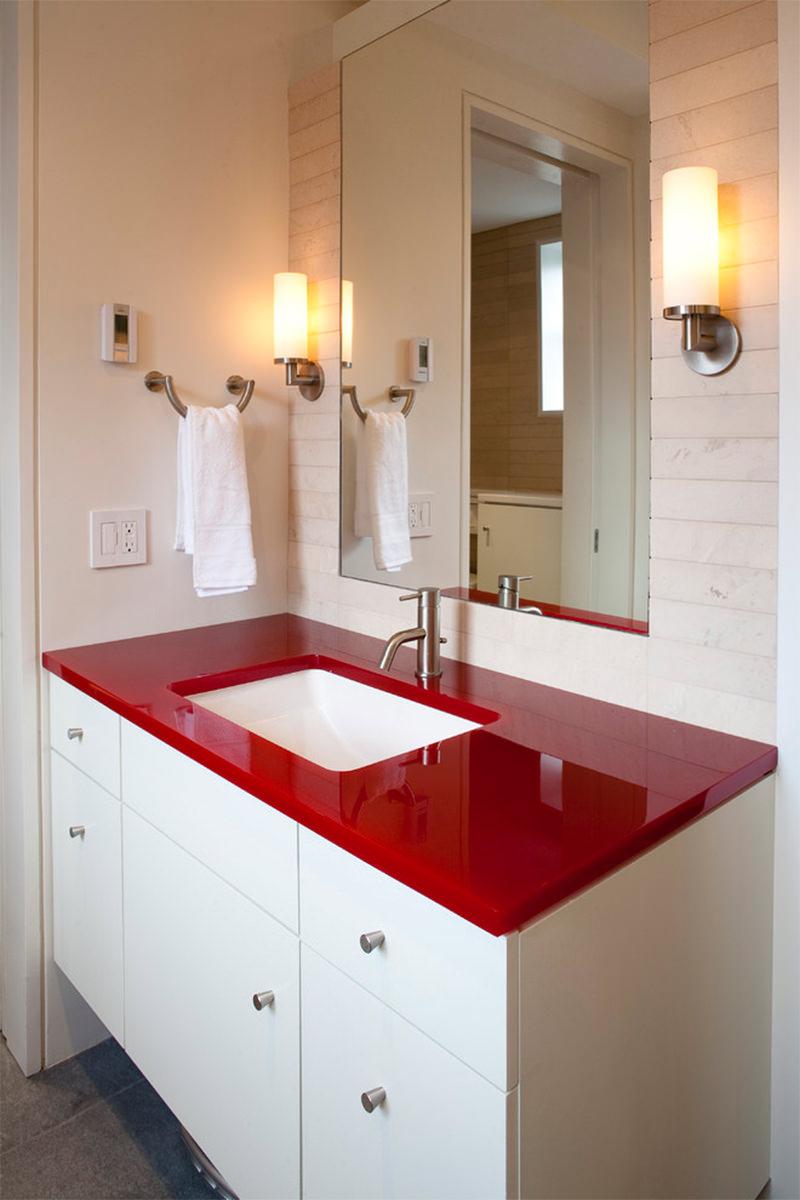 12 banheiros vermelhos para voc se inspirar  limaonagua