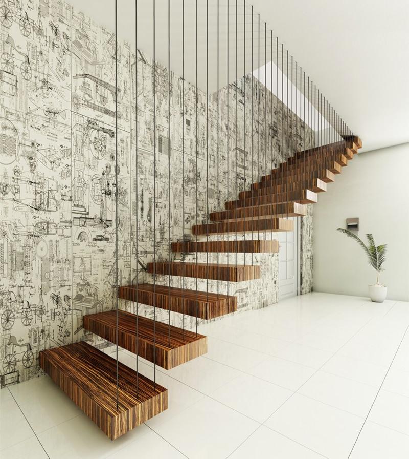 22 escadas flutuantes para voc se inspirar  limaonagua