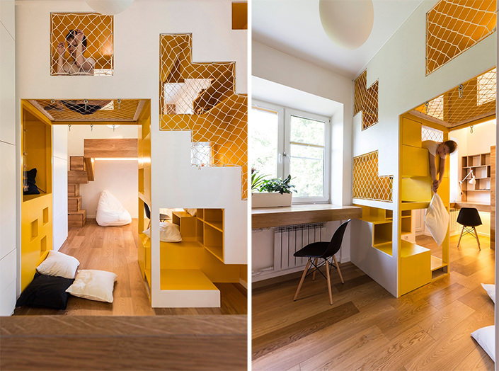 Apartamento com espaos divertidos e mveis inteligentes