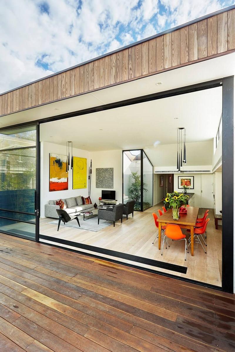 Reforma extenso de casa com vista para o jardim  limaonagua