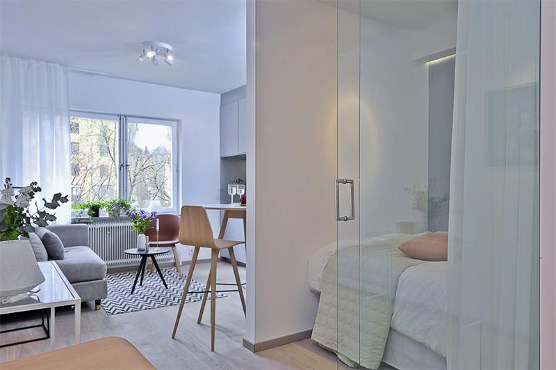 Dois lindos apartamentos com menos de 30 metros quadrados