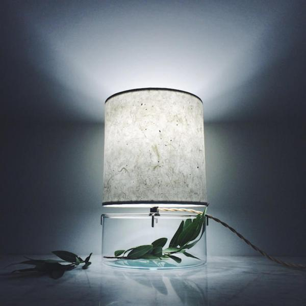 Vel Luminria De Mesa Vaso Plantas Na Base