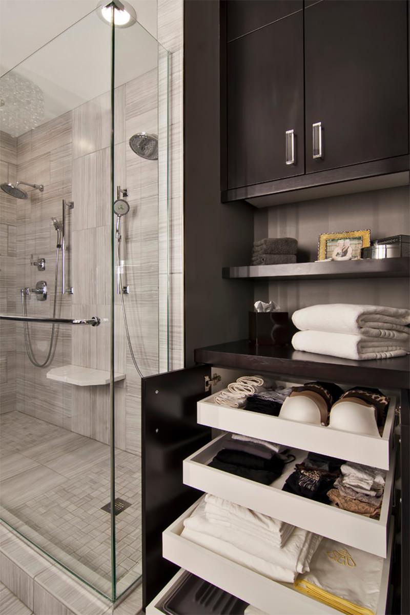 17 armrios e gavetas de banheiro extremamente organizados
