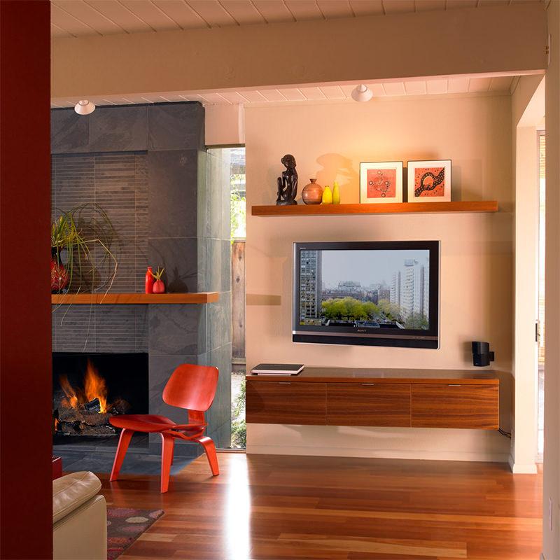showcase designs living room wall mounted tiny open plan kitchen ideas 15 salas decoradas com a tv na parede - limaonagua