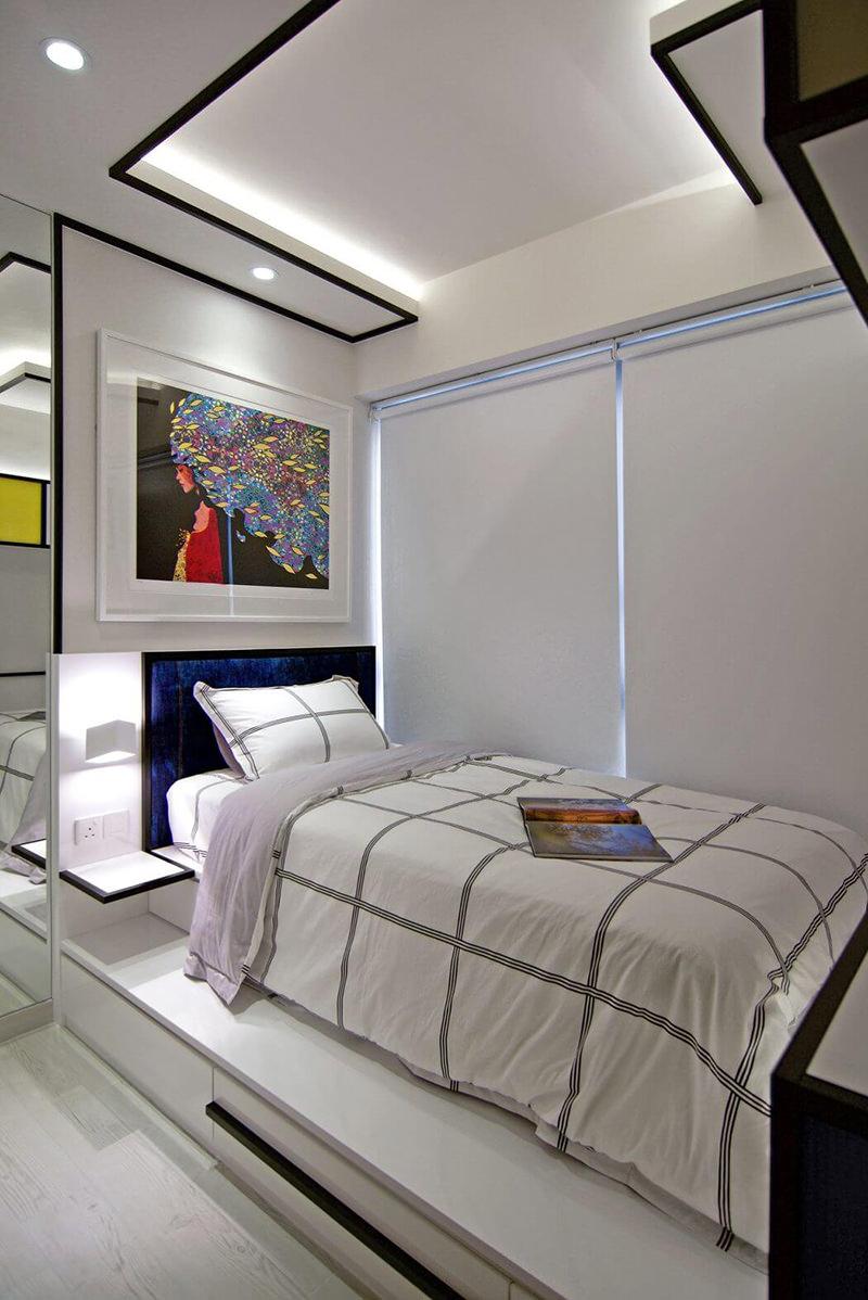 Apartamento com decorao inspirada na paisagem urbana