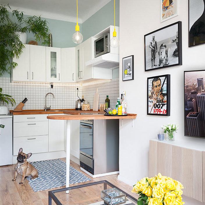 Apartamento pequeno com decorao simples mas apaixonante