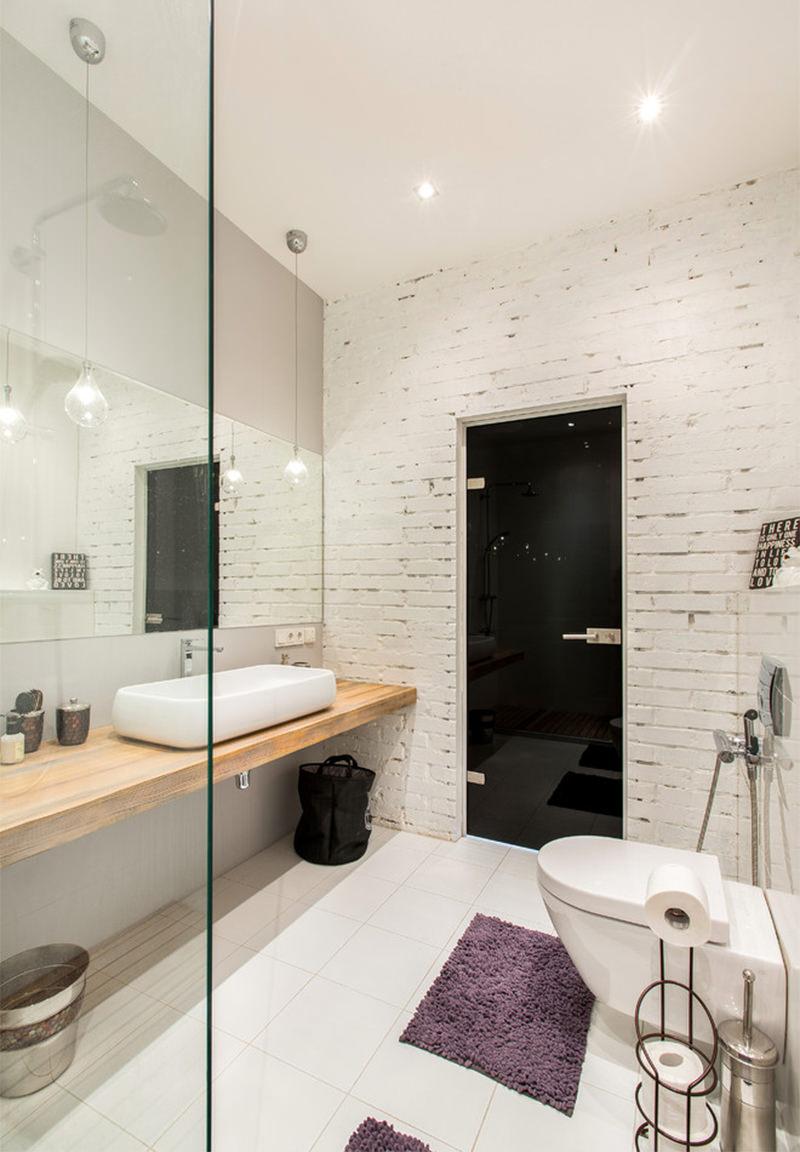 15 Banheiros Com Tijolinhos Aparente Para Voc 234 Se