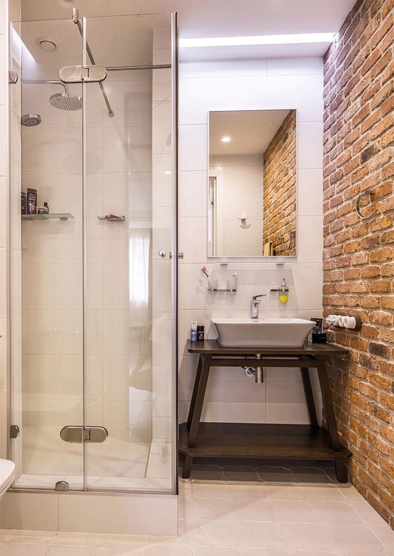 15 banheiros com tijolinhos aparente para voc se