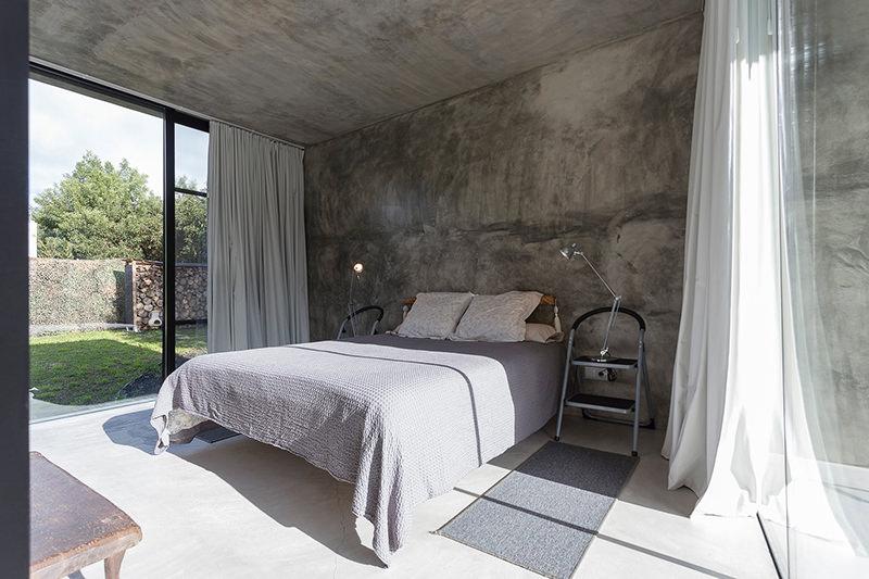 Uma casa de concreto moderna minimalista e um sonho para