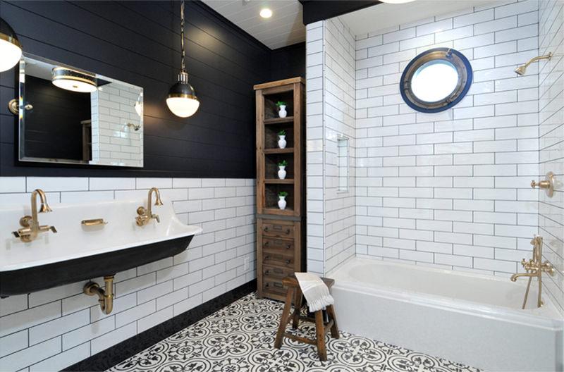 Banheiros decorados 20 inspiraes com preto e branco para voc se apaixonar  limaonagua