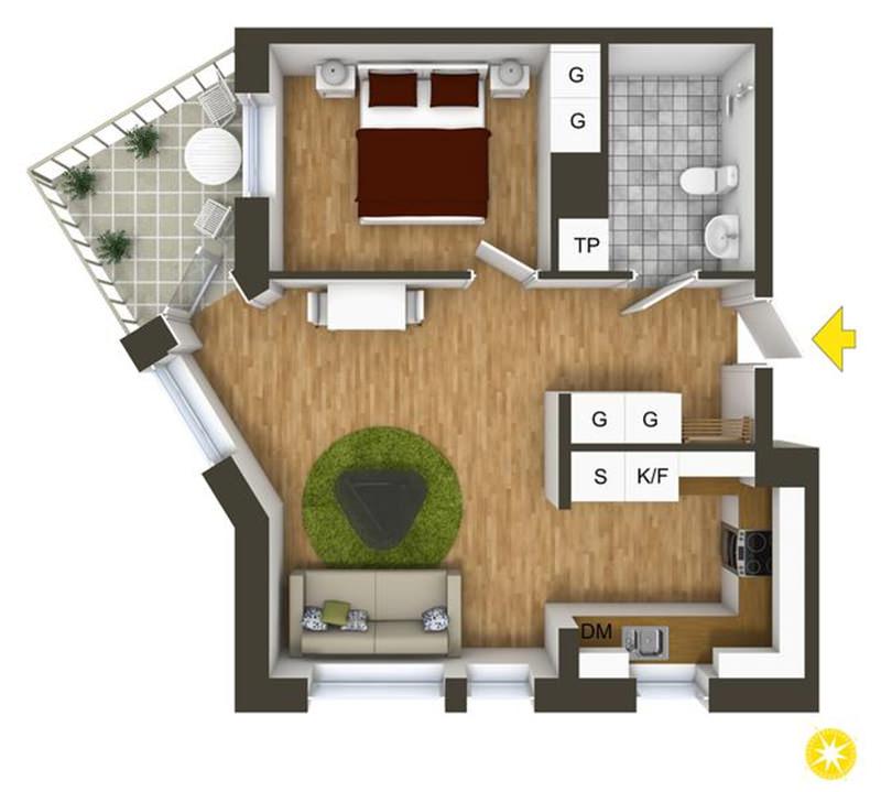 Apartamento com decorao preta e branca super chique e