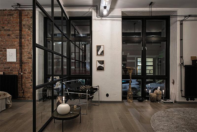 Loft estilo industrial com sala cozinha e quarto integrados  limaonagua