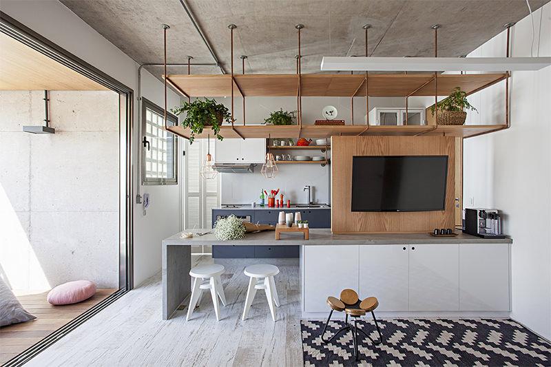 Um apartamento que combina perfeitamente o estilo