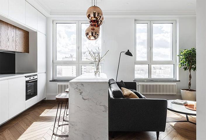 small living room design ideas 2018 light brown carpet lindo apartamento pequeno com decoração contemporânea e ...