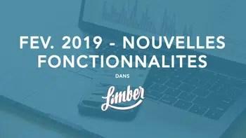 Nouvelles fonctionnalités - Février 2019