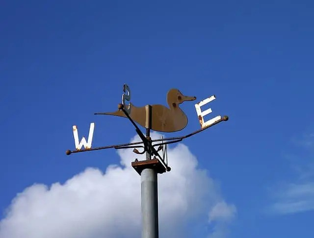 Weathervane, directingand guiding