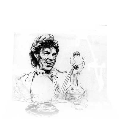 Mick Jagger III By Artist / Rolling Stone Ronnie Wood
