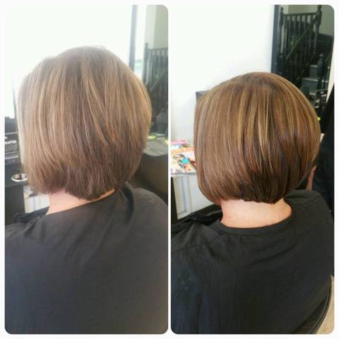 Caramel Highlights With Fresh Bob Cut