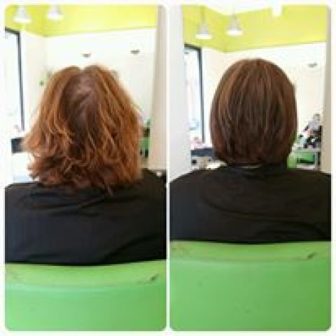 Chocolate Brown Bob Restyle