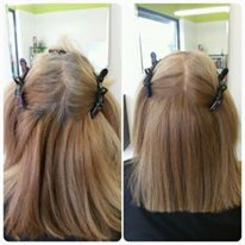 Dark Blonde With Beige Blonde Highlights