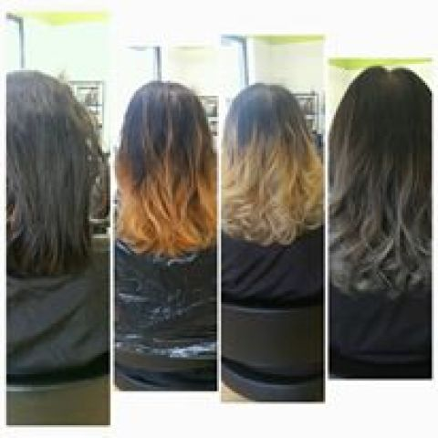 Grey Ombre Process