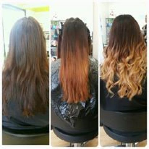 Blonde Ombre Process
