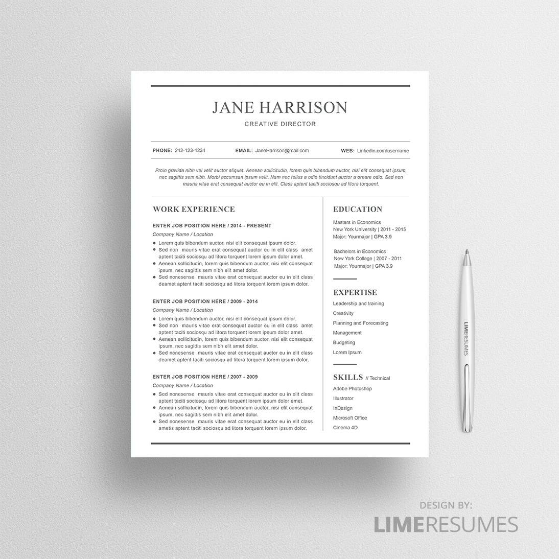 simple resume references