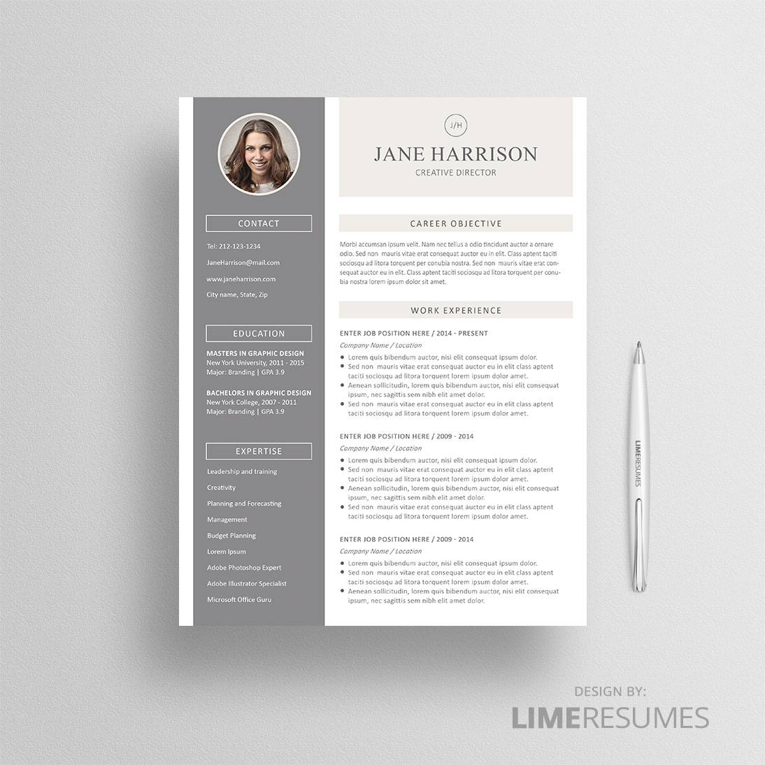 Resume With Photo 2 Page Photo Resume LimeResumes