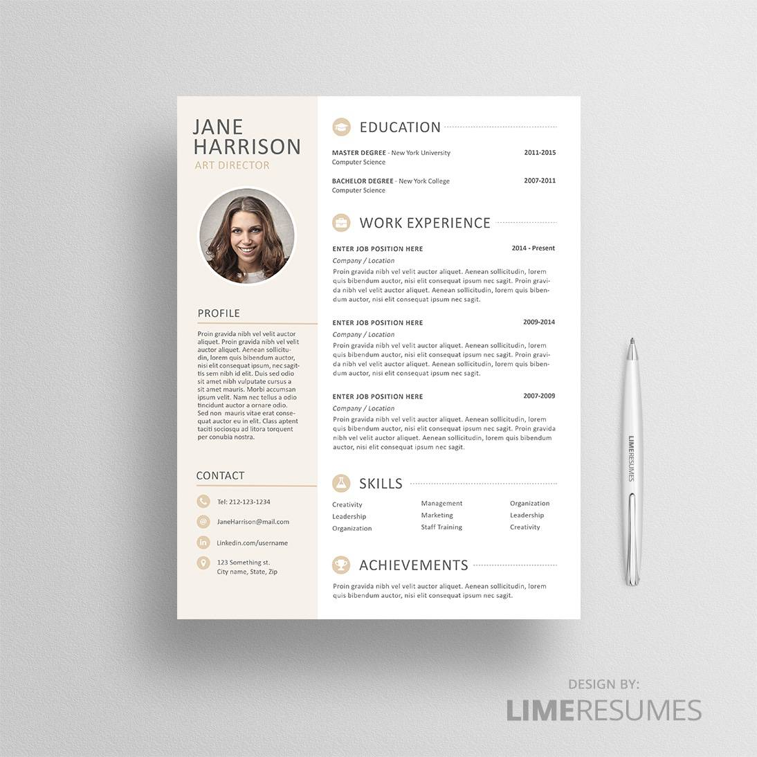 Professional Resume Templates with Cover Letters – LimeResumes