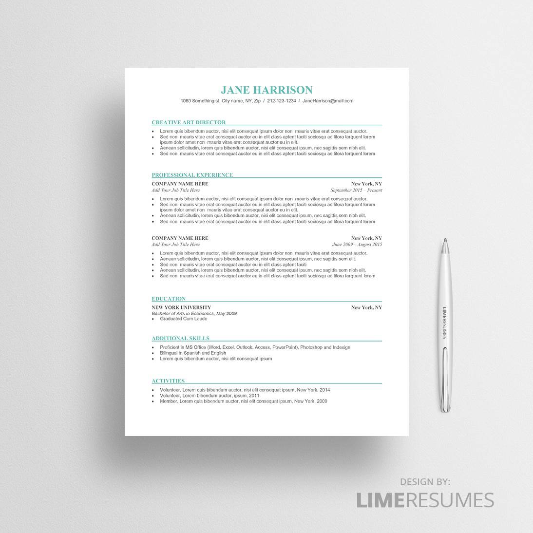 ATS Friendly Resume Template ATS Resume Template