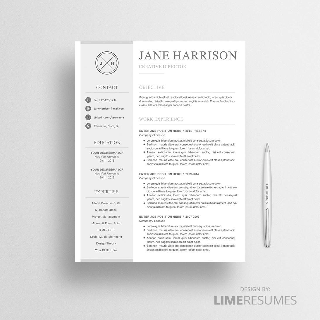 Buy Resume Templates - Premium Professional Resume Templates ...