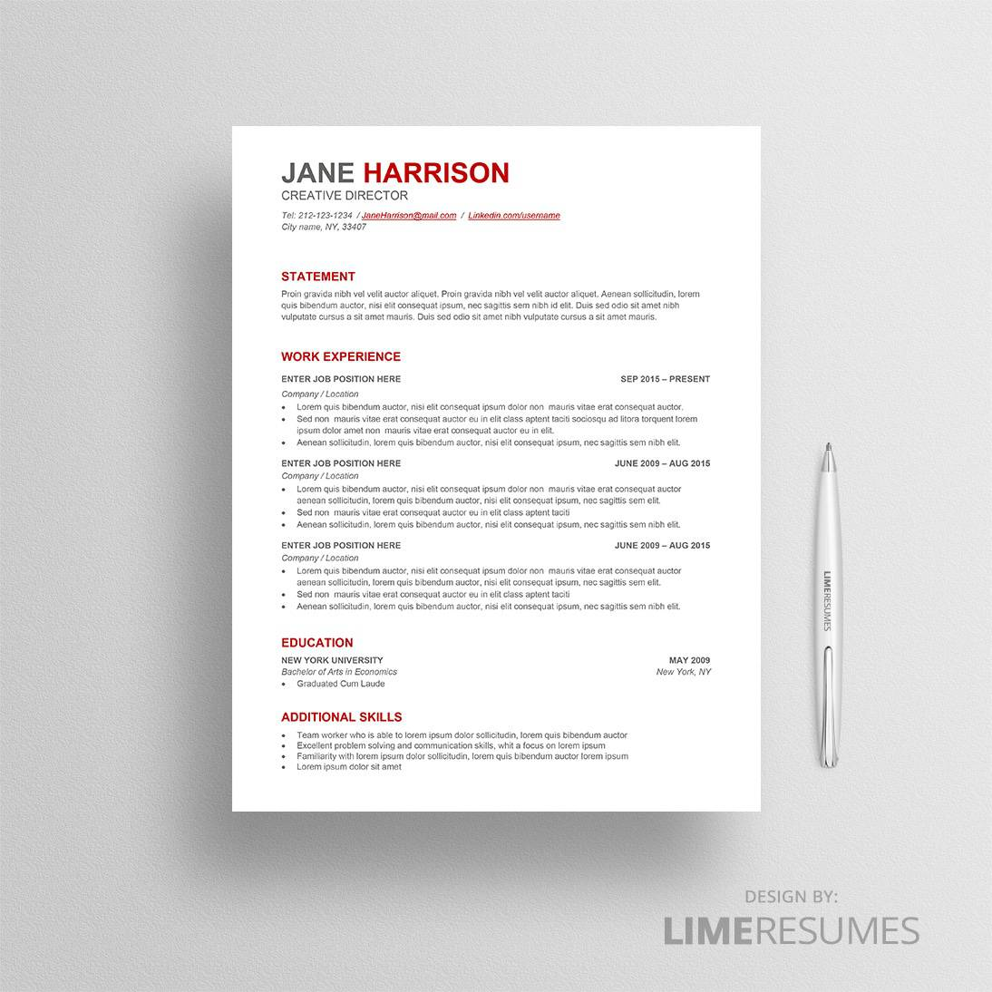 ATS Resume Template ATS Friendly Resume Template