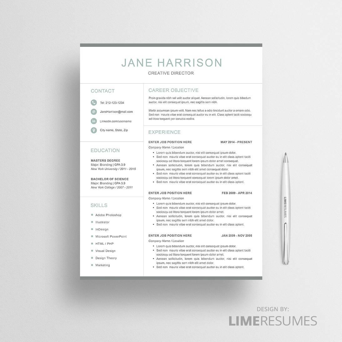 Modern Resume Template LimeResumes