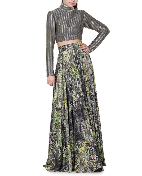 Printed floor length skirt