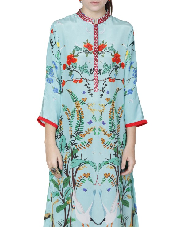 Embroidered Printed Tunic