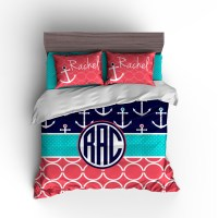 Nautical Personalized Duvet Set | Anchors Personalized ...