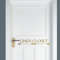 Linen Closet Vinyl Door Decal | Front Door Vinyl | Door ...
