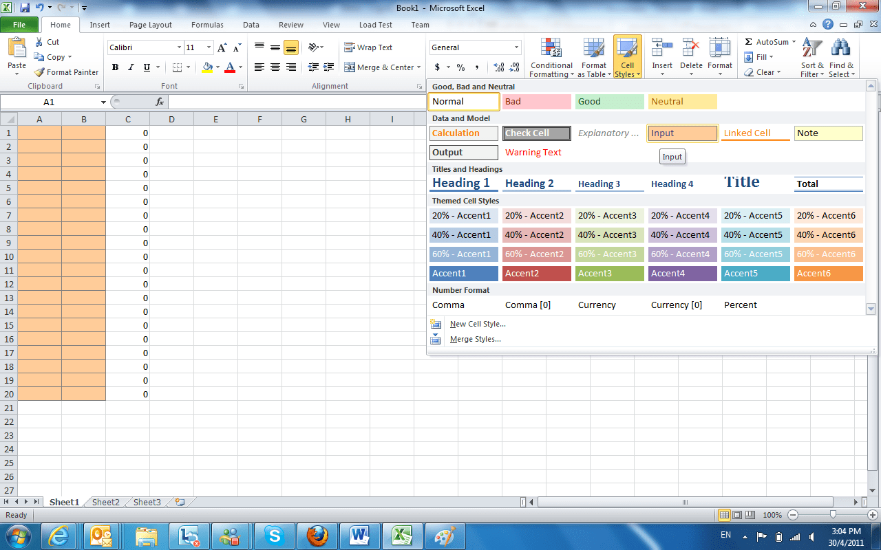 Microsoft Excel Protecting Selected Cells