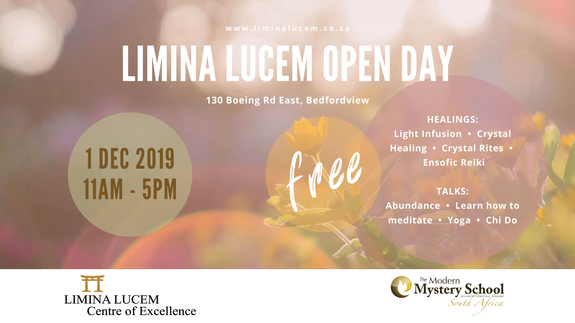 Limina Lucem Open Day @ Limina Lucem Centre of Excellence