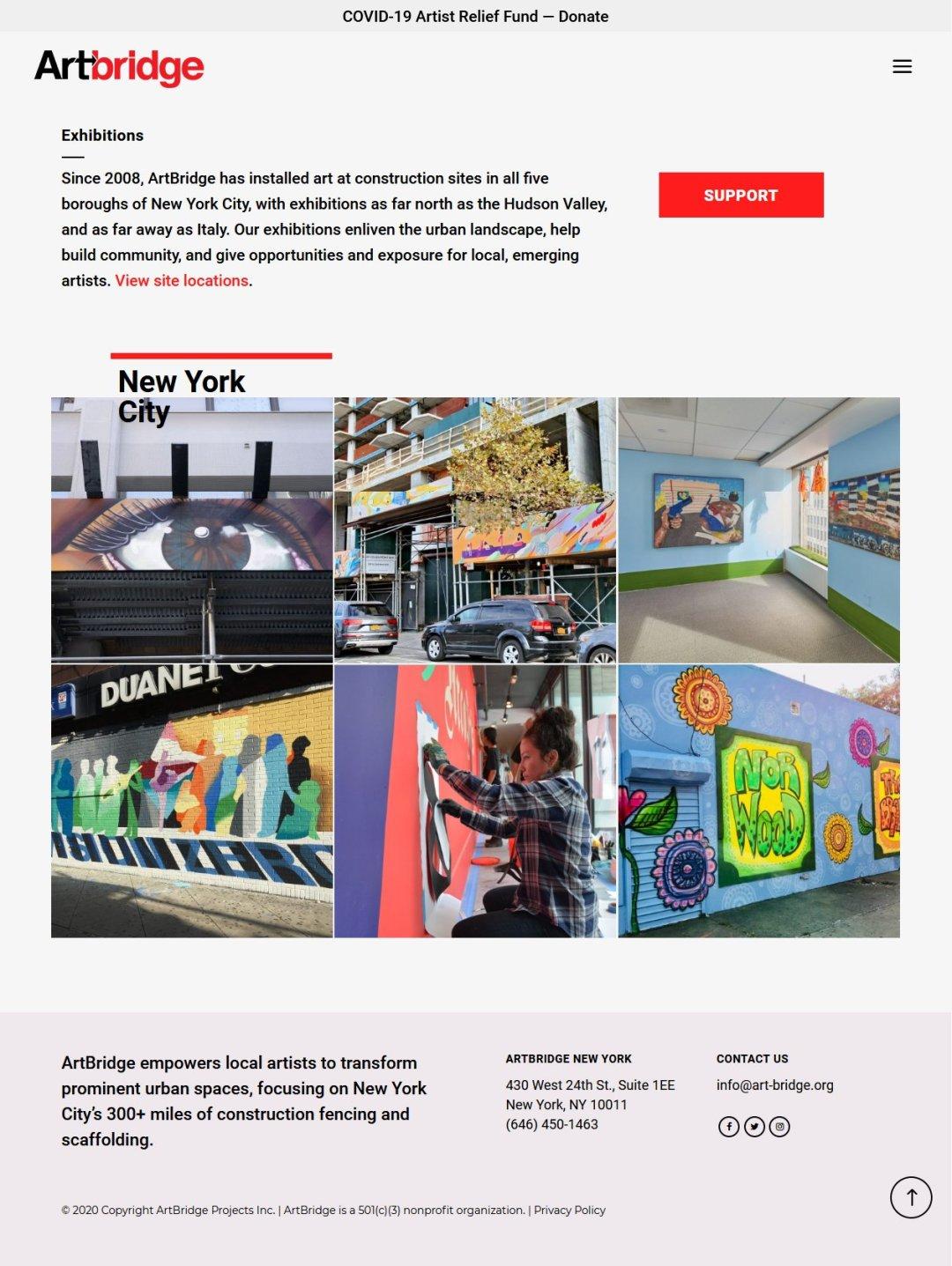 ArtBridge -- Team page, design by LIMIT8 Design