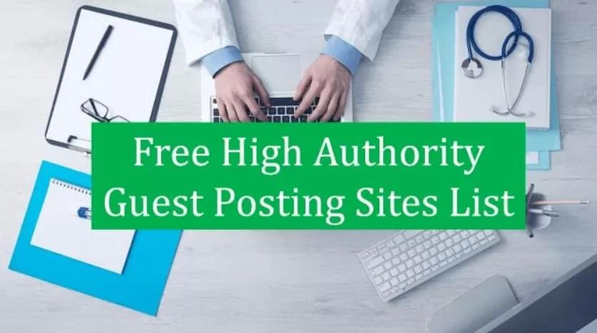 free guest post sites list