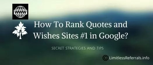 How To Rank Quotes and Wishes Sites in Google