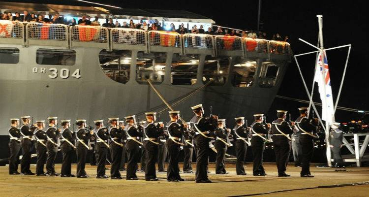 Στη Λήμνο αυστραλιανό πολεμικό σκάφος για τις εκδηλώσεις των 100 χρόνων από την μάχη της Καλλίπολης