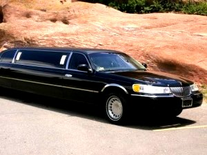 Image of black stretch limousine