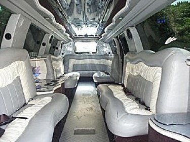 Image of interior of Cadillac Limousine