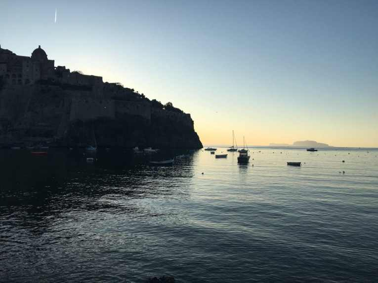 Moving to Ischia - Castello at Sunrise