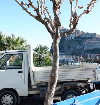 Ischia Ponte and the Castello Aragonese and an Ape