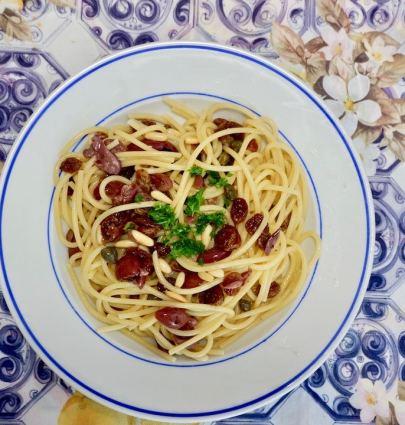 spaghetti allo scammaro and cooking