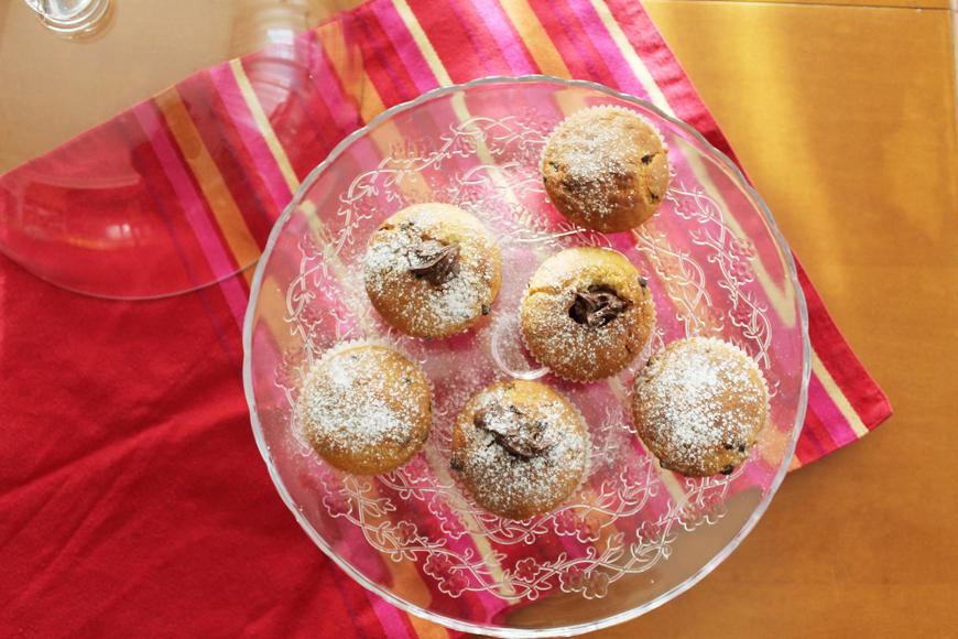 muffin gocce di ciccolata e cuore morbido