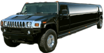 Black Orange County Hummer Limo